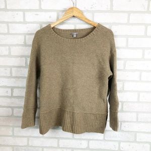 J. Jill Wool Blend Brown Sweater Trendy Size M